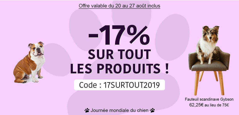 17% sur tout le site ! code : 17SURTOUT2019