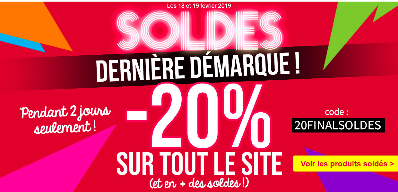 FIN DES SOLDES D'HIVER -20% sur tout le site !