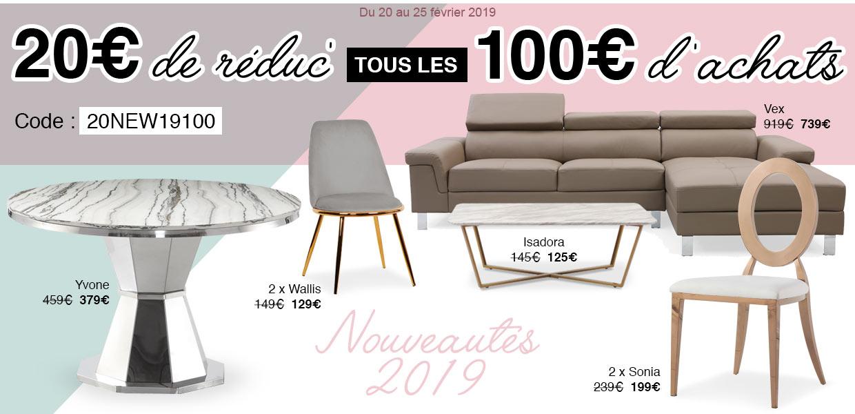 NOUVEAUTÉS ! 20€ offerts tous les 100€ d'achats