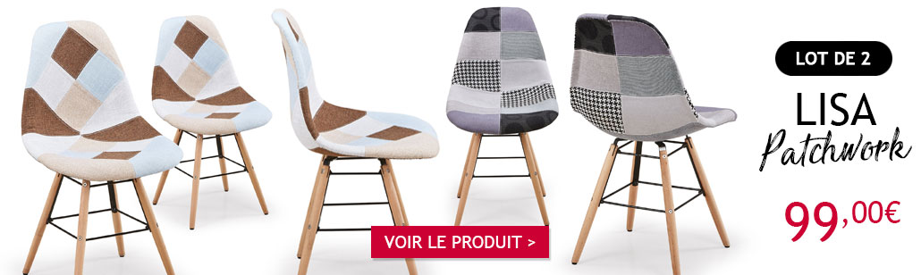 Chaises scandinaves Lisa Patchwork