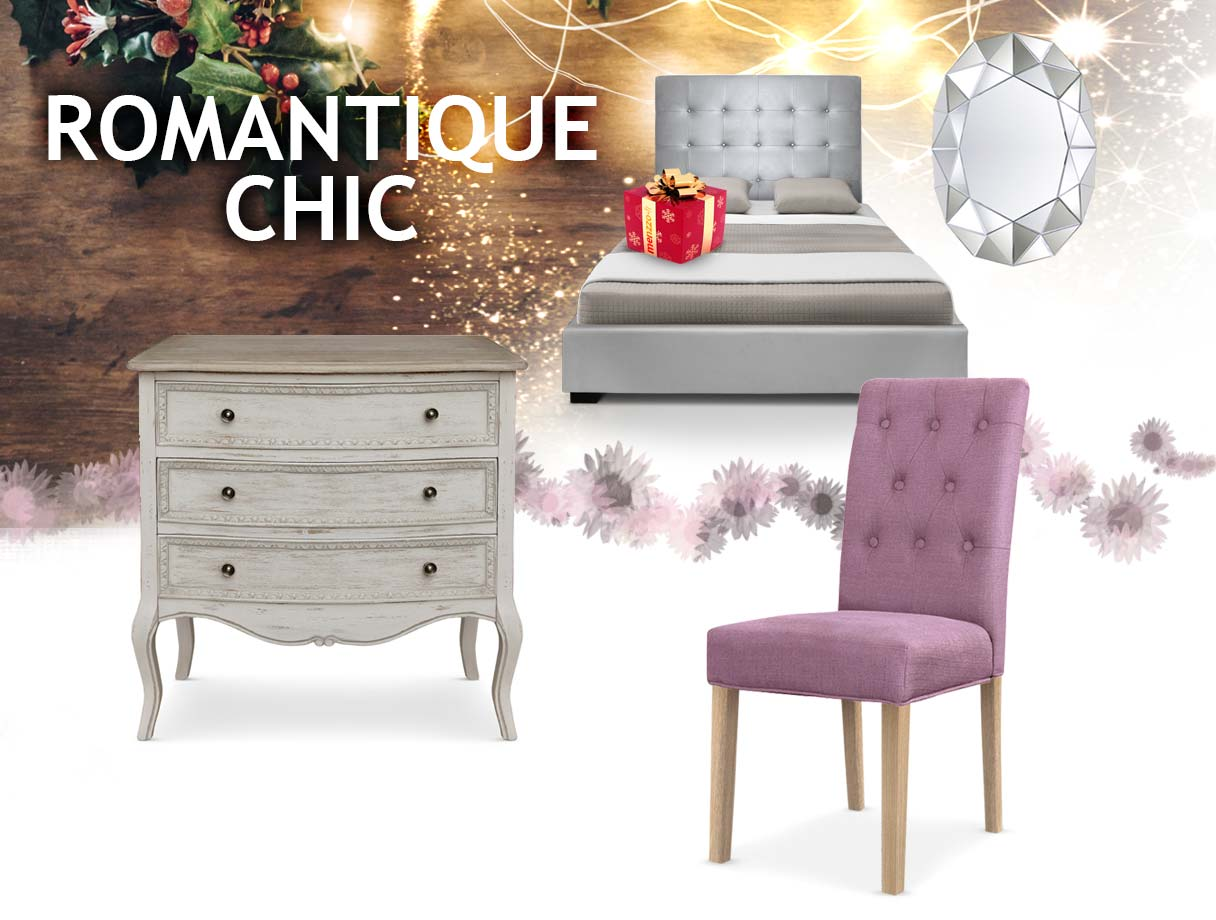 Menzzo table chaise design meubles mobilier for Meuble romantique chic