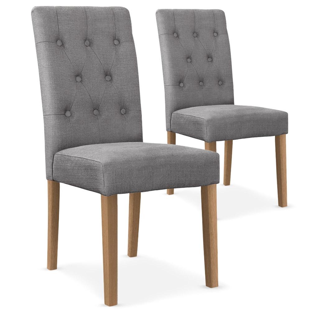 Quel Tissu Pour Chaise lot de 2 chaises cecil tissu gris