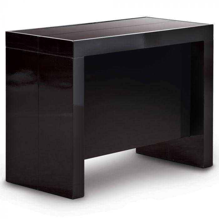 Table Console Extensible Pandore Noir Laque