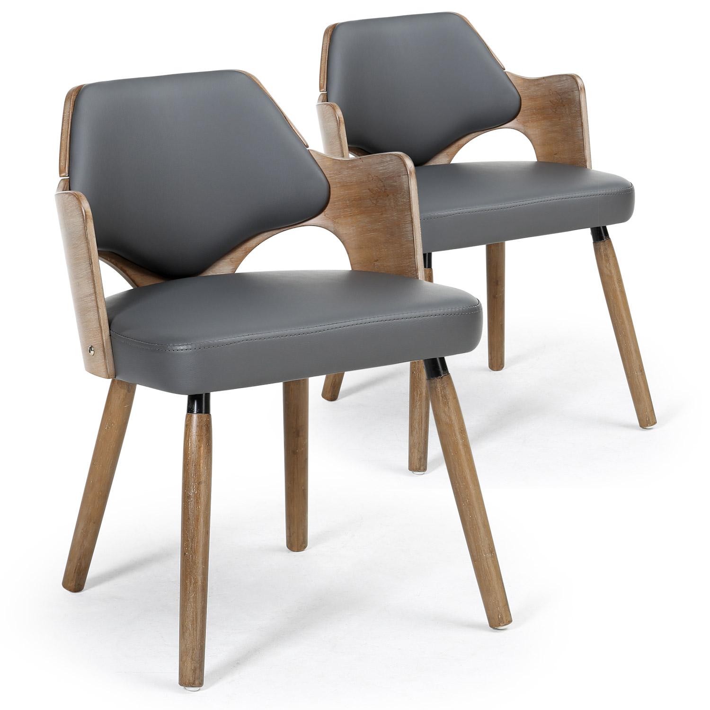 Chaise vintage en tissu gris indogate com fauteuil salon marron esprit - Chaise retro pas cher ...