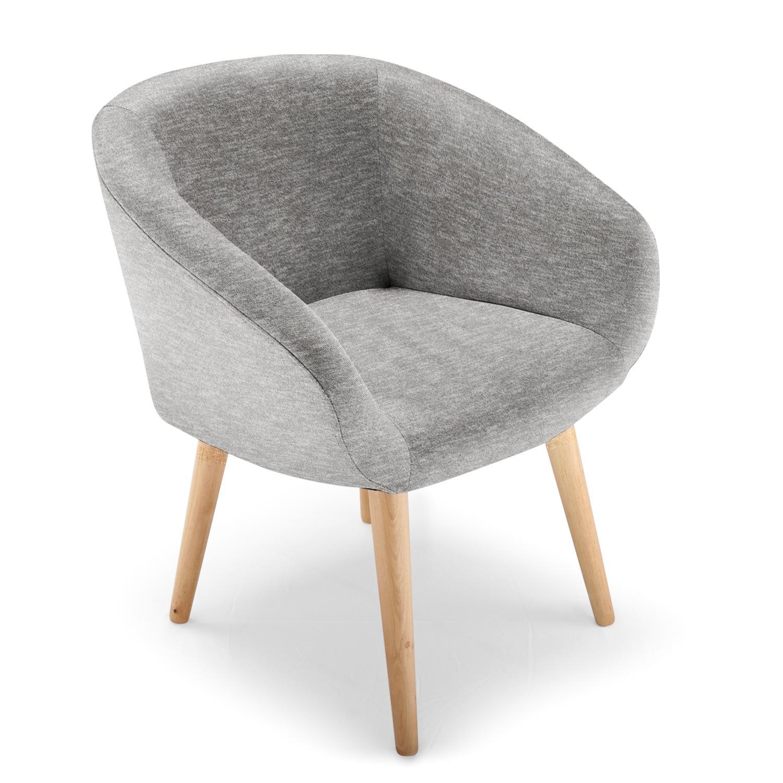 Chaise style scandinave candy tissu gris Vente de MENZZO