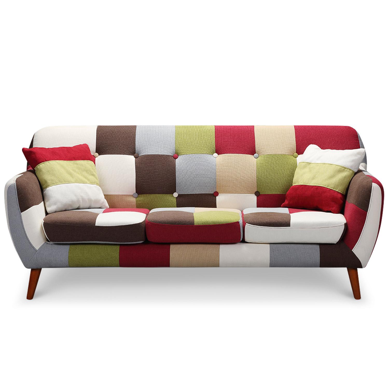 Canapé Multi Couleur se rapportant à canapé scandinave 3 places bombay multicolore