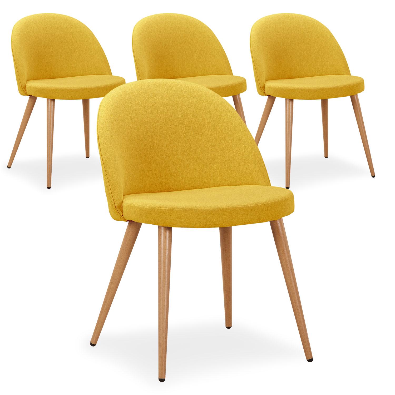 Chaise de cuisine confortable decor chaise pour cuisine for Chaise cuir jaune