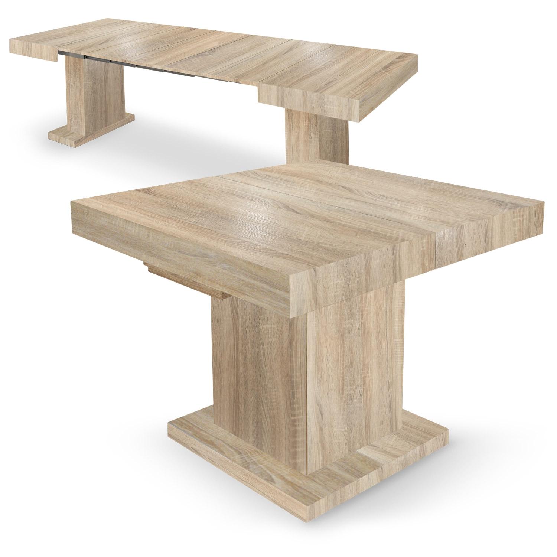 Table En Bois Chene Clair table extensible mustang chêne clair