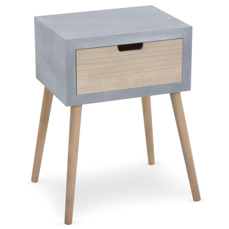 Petite Table De Nuit Bois table de chevet scandinave tatum gris