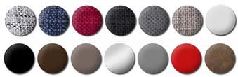 différentes couleurs de textile du canapé